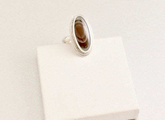 Imperial Jasper sterling silver ring