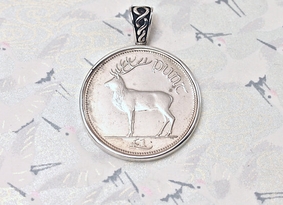 BC572 Stag Coin Pendant