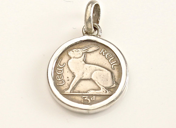 Irish Red Hare Coin Pendant