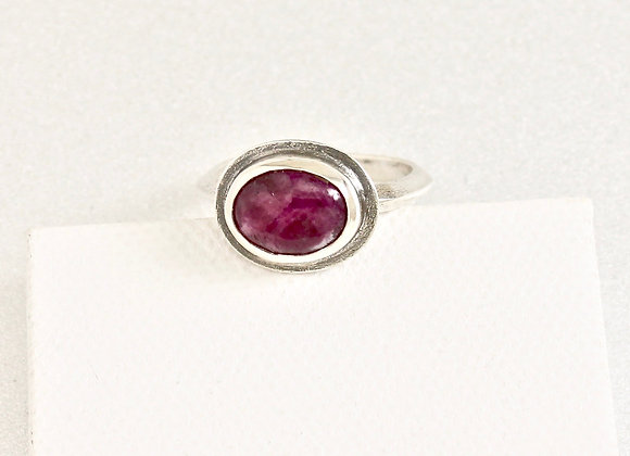 ruby sterling silver ring size 7.5