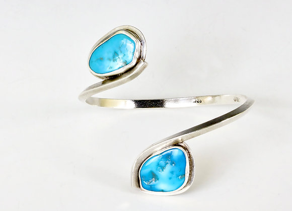 turquoise sterling wrap around bracelet