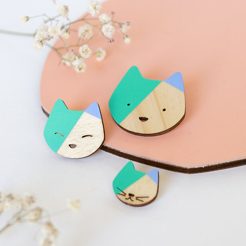 Broche Chat Menthe