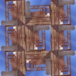 447 fire escape Collage