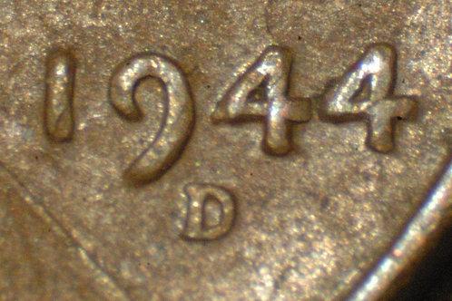 1944-D 1c DDO-007 __XF