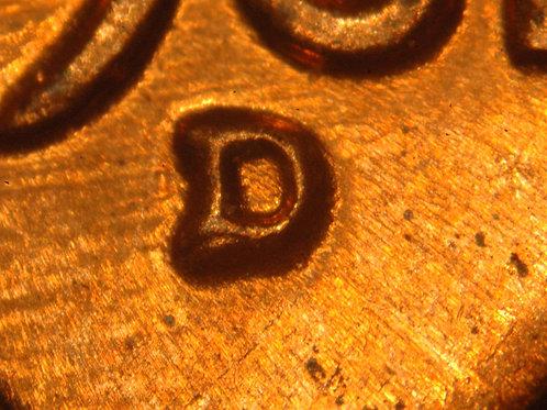 1961-D/D 1c RPM-064/WRPM-066 Raw BU Full Red