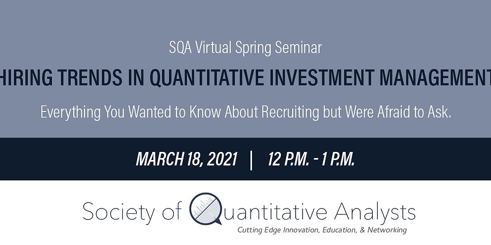 Hiring Trends In Quantitative Investment Management
