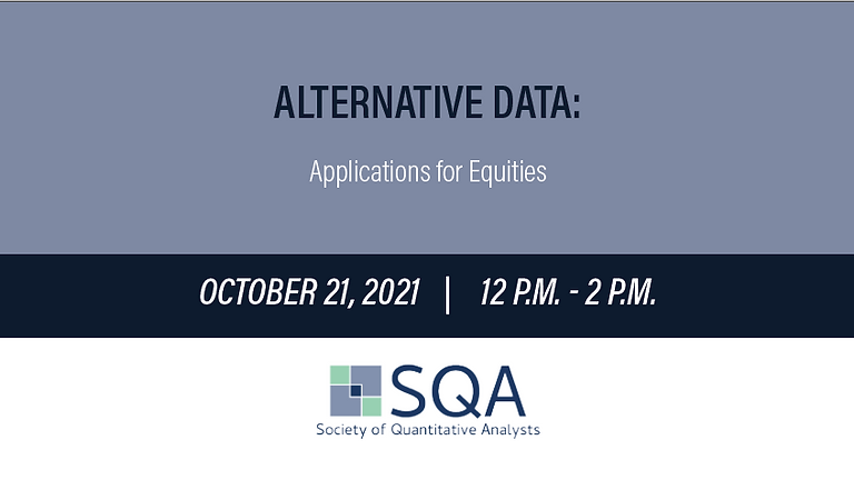 Alternative Data: Applications for Equities