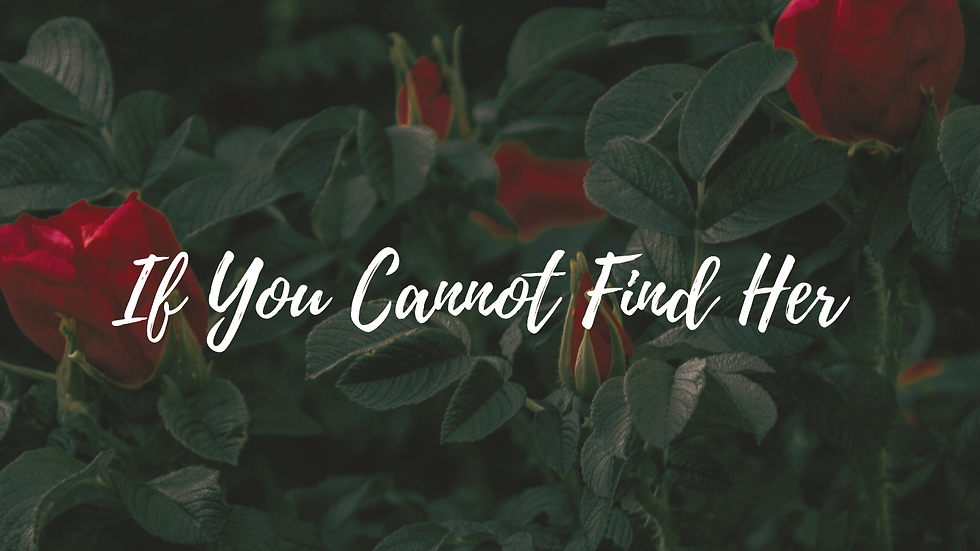 If You Cannot Find Her