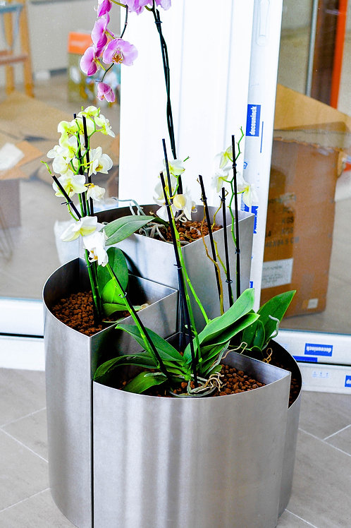 Bacs à fleurs modulables en Inox