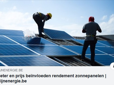 """Zonnepanelen = groene, toekomstige en duurzame keuze"""