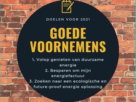 Pak uw goede voornemens voor 2021 onmiddellijk aan!