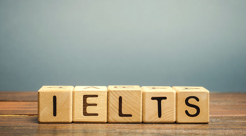 Wooden blocks with the word IELTS - inte