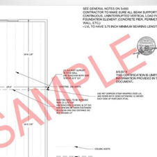 Sample Permit Drawings for Load bearing Wall Removal and Replacement With LVL