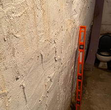 """Over 4"""" Bow in Terracotta Foundation Wall"""