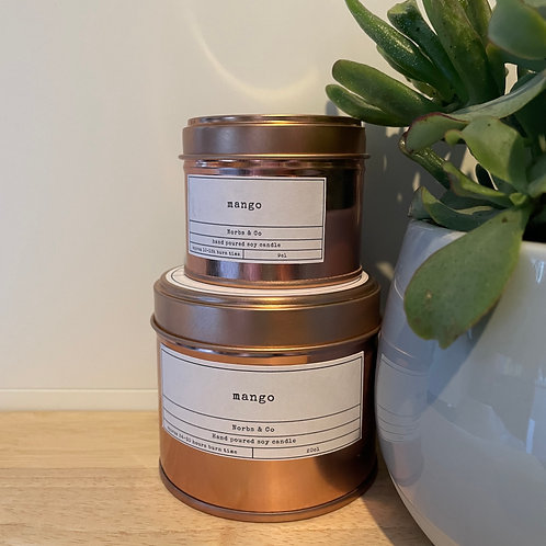 Mango Wooden Wick Soy Wax Candle   Vegan   Natural   Plastic Free   Eco Friendly