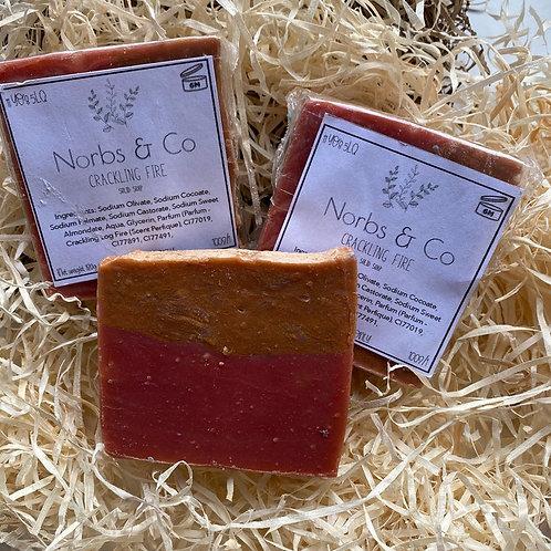Crackling Fire Flat Top Handmade Soap Vegan, Natural and Plastic Free