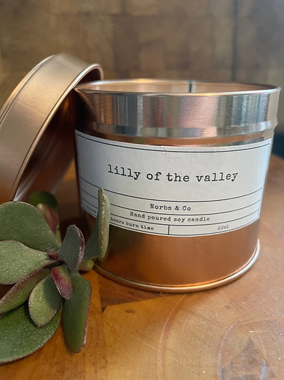 Lilly of the Valley Wooden Wick Soy Wax Candle | Vegan | Natural | Plastic Free