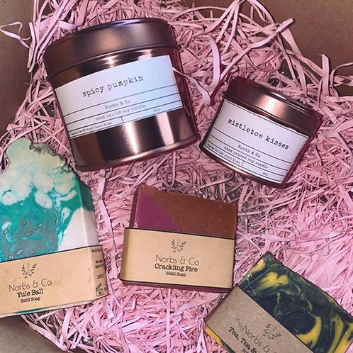 Candle and Soap Gift Set Vegan, Natural and Plastic Free