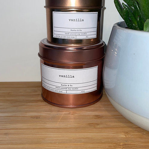 Vanilla Wooden Wick Soy Wax Candle Vegan, Natural and Plastic Free