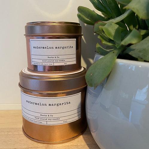 Watermelon Margarita Wooden Wick Soy Wax Candle | Vegan | Natural | Plastic Free