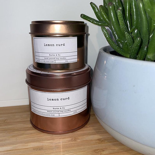 Lemon Curd Wooden Wick Soy Wax Candle Vegan, Natural and Plastic Free