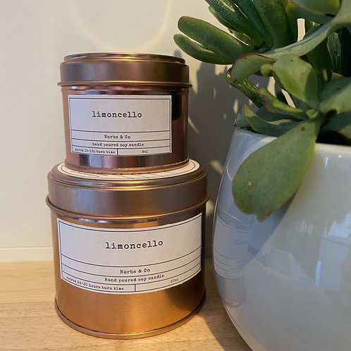 Limoncello Wooden Wick Soy Wax Candle   Vegan   Natural   Plastic Free   Eco Fri