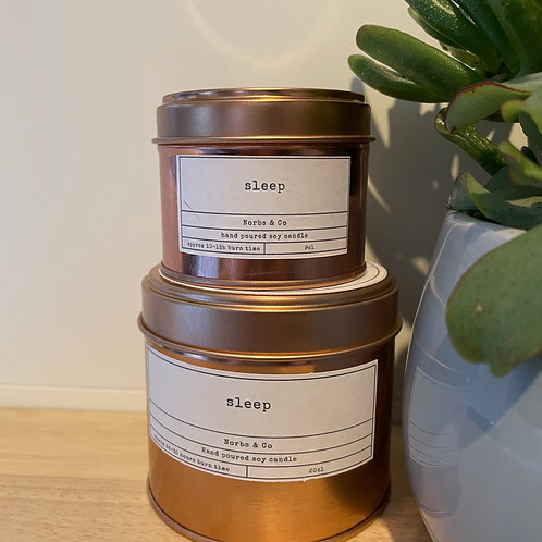 Sleep Wooden Wick Soy Wax Candle | Vegan | Natural | Plastic Free | Eco Friendly