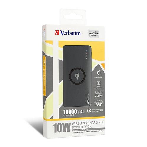 Verbatim Qi 10W QC3.0+PD 10000mAh Battery