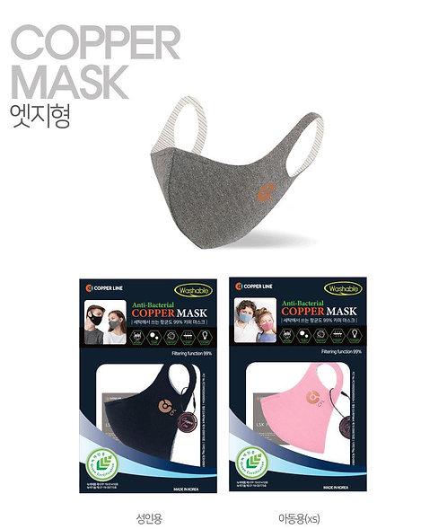韓國Copper Line 銅線抗菌專利 抗菌防病毒防臭可重用環保六層物料口罩