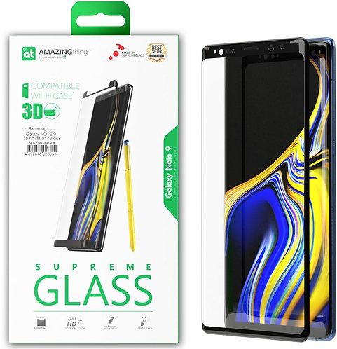 AMAZINGthing 三星 Galaxy Note 9 0.3mm 3D 弧邊全覆蓋鋼化玻璃保護貼 (黑色邊框)