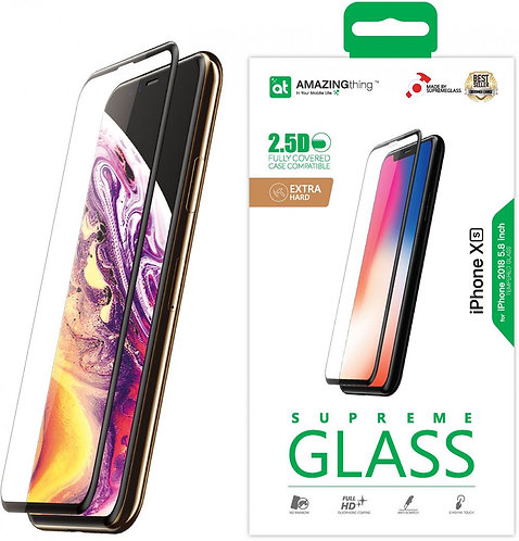 Amazing Thing iPhone XS / iPhone X Fully Covered Glass Screen Protector - Temper