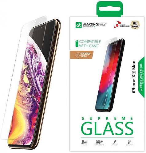 Amazing Thing iPhone XS Max EXTRA HARD Glass Screen Protector - Tempered Supreme