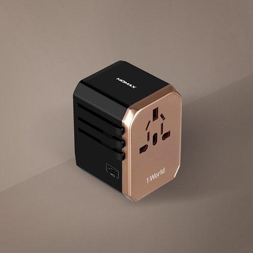 1-World USB AC 旅行插座 (Type-C + 4 USB-A)