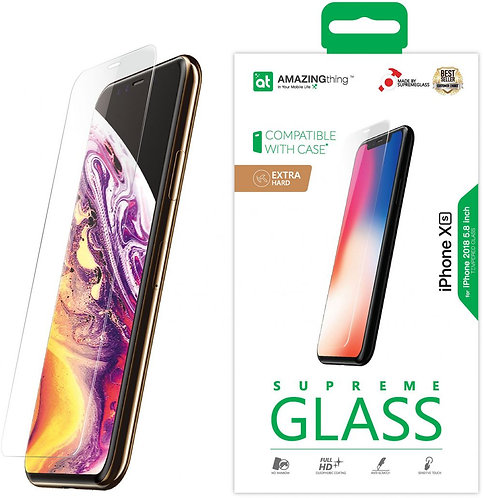 Amazing Thing iPhone XS / iPhone X EXTRA HARD Glass Screen Protector - Tempered