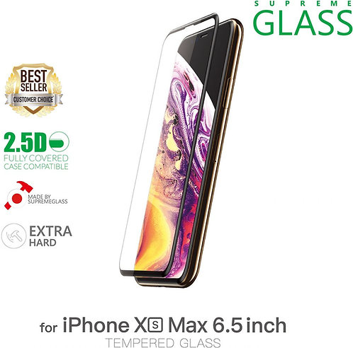 Amazing Thing iPhone XS Max Fully Covered Glass Screen Protector - Tempered Supr