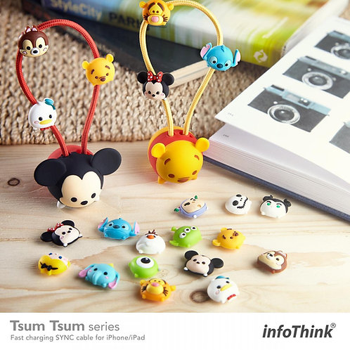 infoThink TSUM TSUM iPhone/iPad 快充傳輸線(20CM)