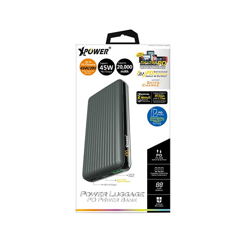 XPower Power Luggage 45W PD & QC 外置充電器