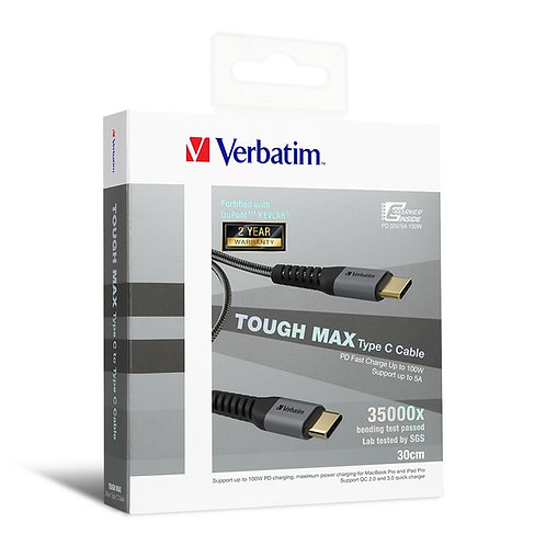 (30CM)Verbatim Sync & Charge Tough Max Type C Cable