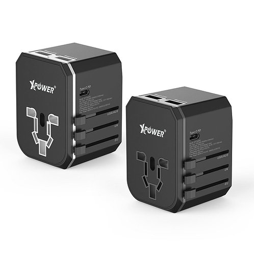 XPower TA3PD 33W Type-C PD & QC旅行充電轉插