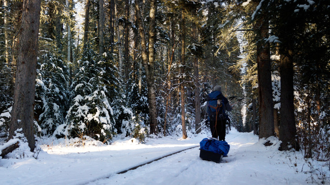 How to change your perspective about winter by visiting Prince Albert National Park.