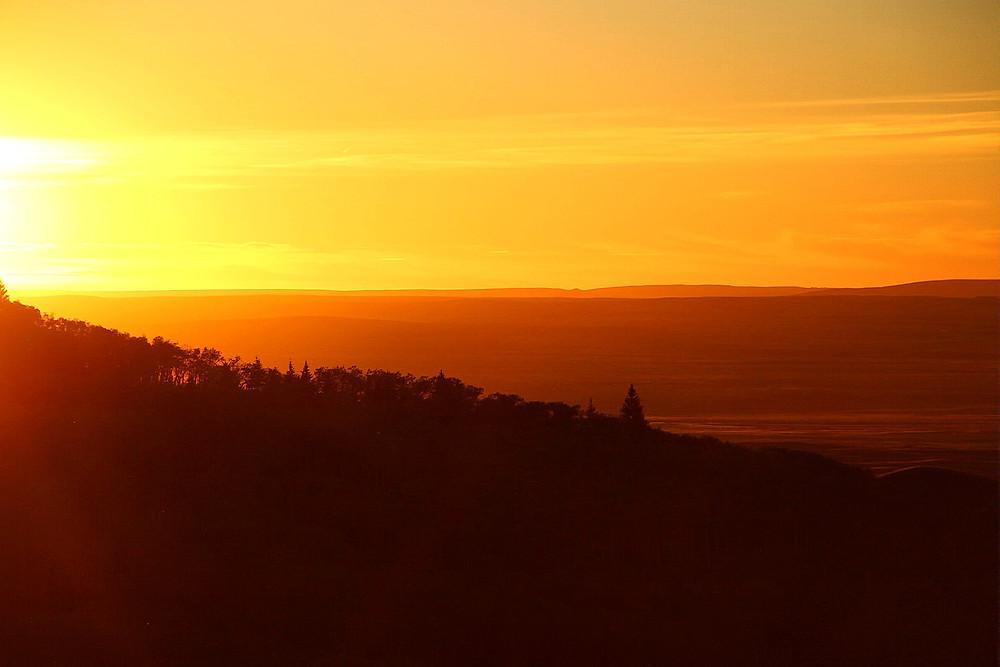 Sunset at Cypress Hills