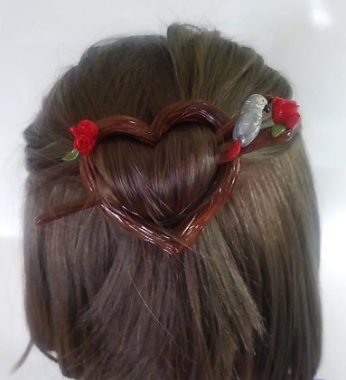 Congo African Grey Hair/Shawl Pin
