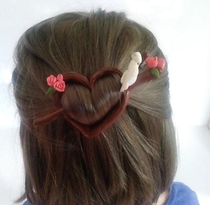 Umbrella Cockatoo Shawl/Hair Pin