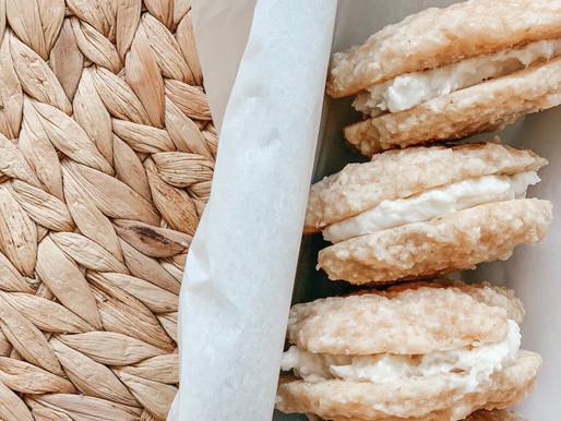 Gluten- Free Key Lime Sandwich Cookies