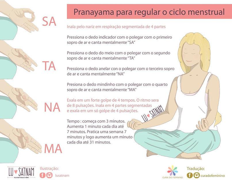 pranayama para regular o ciclo menstrual