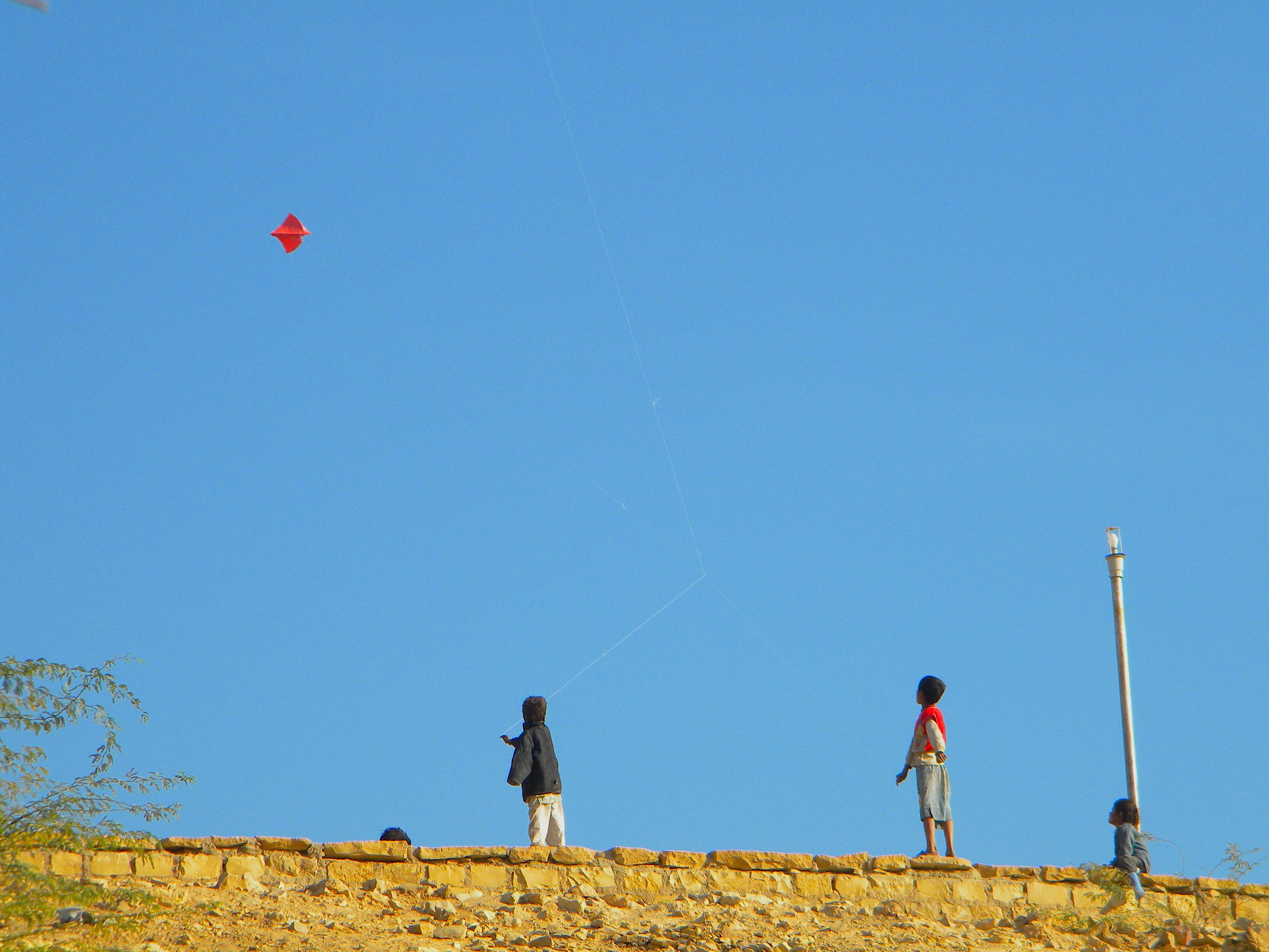 Flying, India 2010