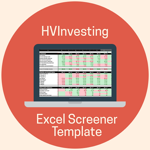 HV Investing Excel Screener Template