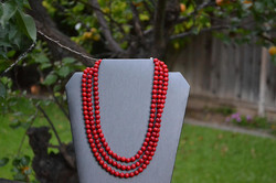 A genuine red stone necklace