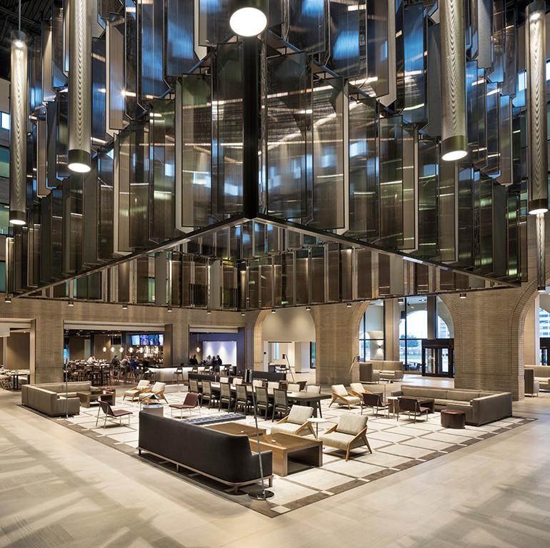 Hyatt Regency Schaumburg, Hotel Interiors, Hospitality Design, Lobby