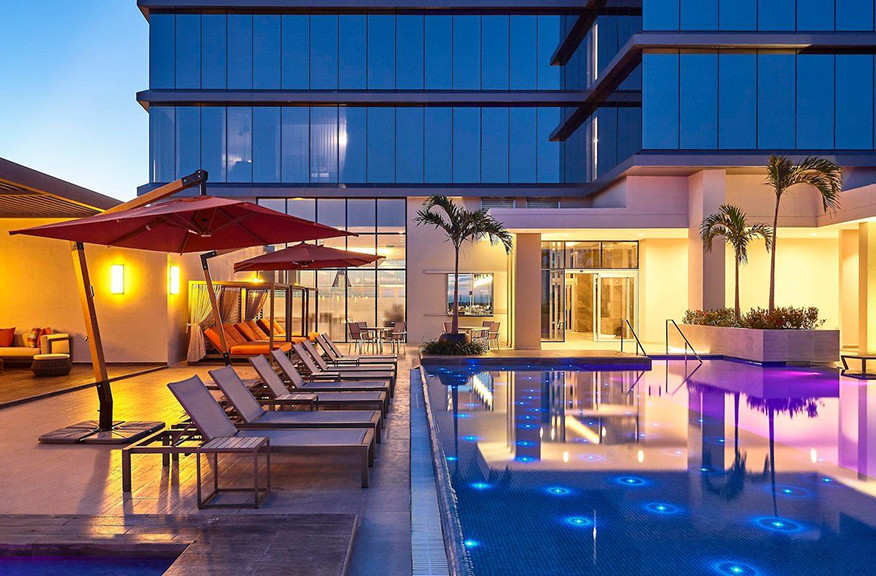 Marriott Santa Cruz, Bolivia Hotels, Hospitalty Interiors, Hotel Design, Rooftop Pool
